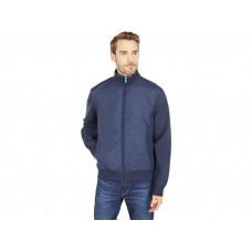 Men Save the Duck Peter REMI Recycled Polyester Mixed Media Zip-Up Jacket Navy Blue MMOBS276
