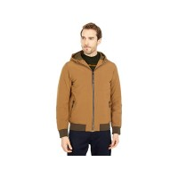 Men's Scotch & Soda Hooded Quilted Stretch-Nylon Jacket Fawn QWVWP510