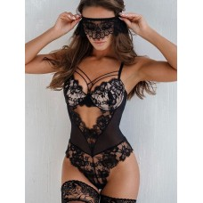 Chemise For Women Black Lycra Spandex Piping Sexy Stretch Lingerie shopping #03570959938