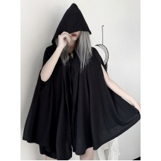 Gothic Lolita Cape Black Polyester Lace Up Spring Lolita Outwears #101160967660