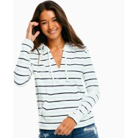 Southern Tide Women's Paiton Striped Hoodie DREAM BLUE CLKOHSP